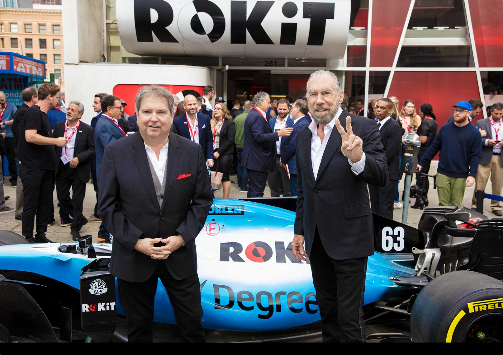 Jonathan Kendrick and John Paul Dejoria at ROKiT launch