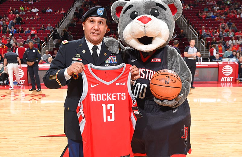 Troops with Houston Rockets